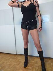 Hotpants schwarz Wetlook Gogo Gr