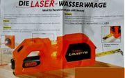Handwerker Laser-Wasserwaage mit 3 Libellen