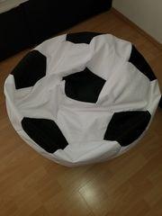 Sitzsack Sitzkissen Fußball Kinder