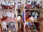 Puppenhaus Del Prado komplett aufgebaut