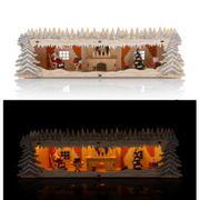 NEU Lumesso beleuchtete Holzdekoration Weihnachtsmann