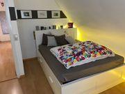 Bett IKEA Brimnes weiß 160