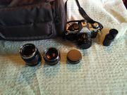 Kamera Canon AE-1 mit Zubehör