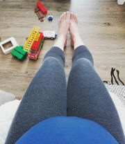 Graue Umstands Legging XL