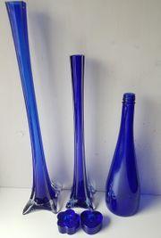 Glas Vasen hoch schlank dekorativ