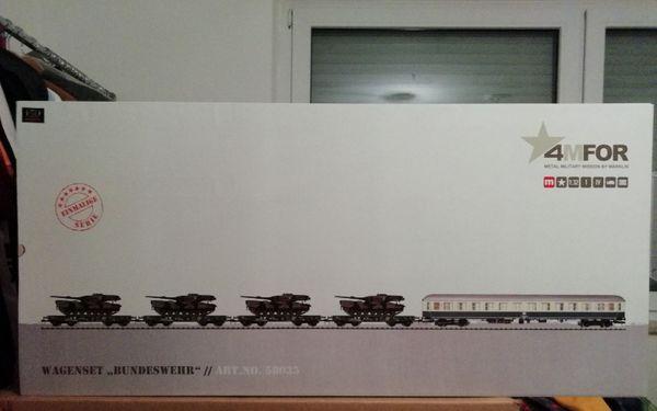 Märklin-4MFOR -58035-Panzer-Schwerlasttransport-ungeöffnet-Spur 1