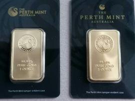 Perth Mint Goldbarren im Blister