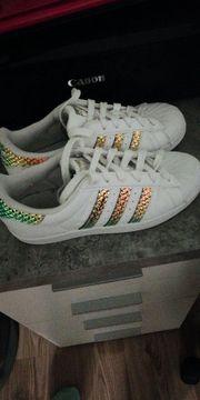 Adidas Superstar Hellrosa Streifen guenti.ch