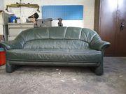 Grüne Leder-Couch