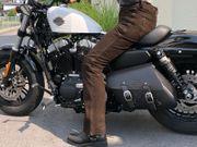 Motorrad Hose - Braunes Wildleder - echt