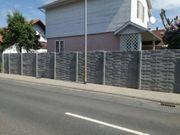 MSBAU24 Betonzaun Betonzäune Sichtschutz Gartenzaun