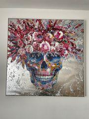 Kunstdruck Leinwand Totenkopf Skull 102cm