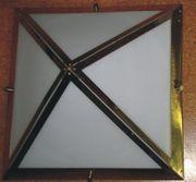 70er Jahre Design Lampe Glashütte