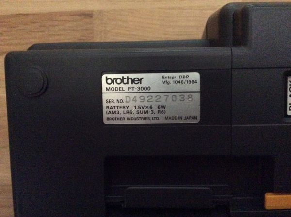 Brother p-Touch 3000