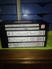 VHS Kassetten 4 Videocassette bespielt