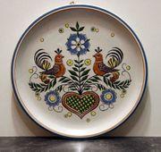 Wandteller Zierteller Ulmer Keramik Vögel