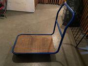 blauer Transportwagen 78x50x90cm Lager Keller