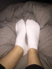 Getragene Socken