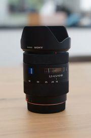 Sony Objektiv von Carl Zeiss