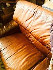 Leder Sofa 2 sitzer braun