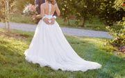Traumhaftes Brautkleid A-Linie Größe 34