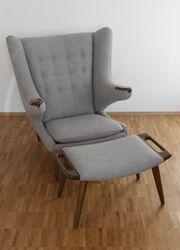 Papa Bear Chair mit Ottomane -
