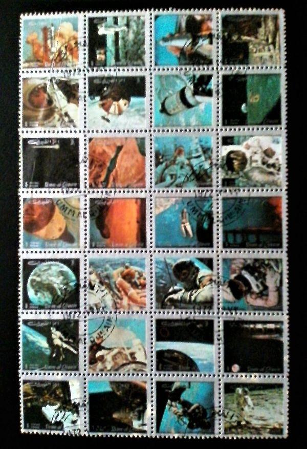 Briefmarkenblock Zusammendruck Raumfahrt