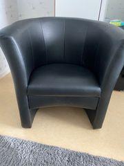 Sessel schwarz Lederoptik