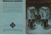 Telefunken Röhren und Preisliste 1939