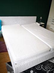 Doppelbett weiß