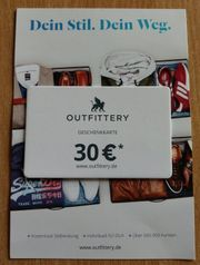 Geschenkkarte Gutschein OUTFITTERY 30 EUR