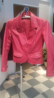 neue Lederjacke Boho rot Leder