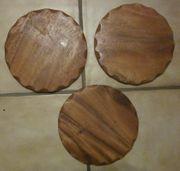 Holzplatte 3 Holzuntersetzer dm ca