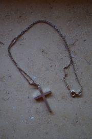 925 Silber Kette Anhänger Kreuz