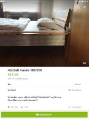 Holzbett 200cmx180cm