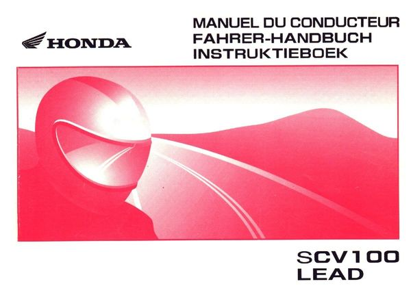 Fahrerhandbuch für Honda Lead SCV