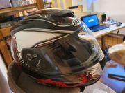 Motorradhelm Drachen-Motiv Größe L