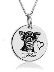 personalisierte Kette Edelstahl Chihuahua m