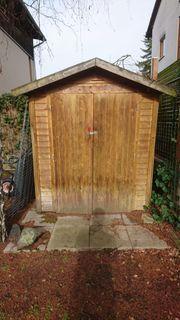 Holz-Gartenhütte zum Selbstabbau Abtransport