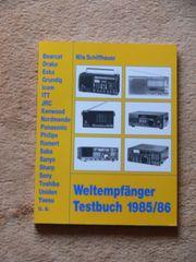 Weltempfänger Testbuch 1985 - 86 Bücher