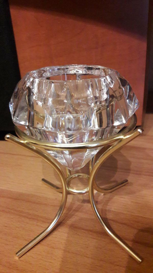 Teelichthalter Solitaire Crystal