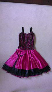 Abend-Cocktailkleid in pink schwarz Gr