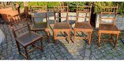 Antike Esszimmer Stühle Leder