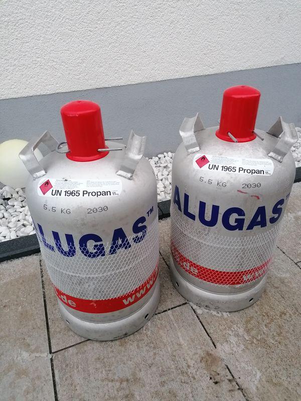 Alugasflaschen VOLL unbenutzt