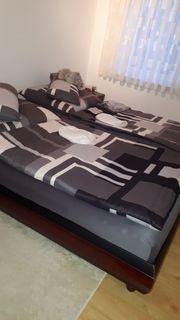 Bett Nachttische Rost und Matratzen