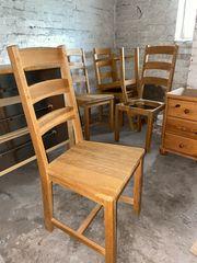 4x Esszimmerstühle aus Eichenholz