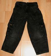 Schwarze Jeans-Hose - Größe 4 bzw 92