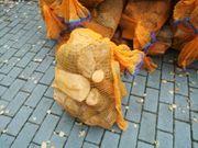 Brennholz Kaminholz im Netzsack auch