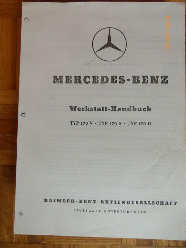 Werkstatthandbuch Mercedes 170 S V