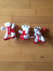 3 Coca-Cola Wintersportbären